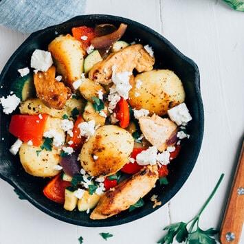 Grieks aardappelpannetje