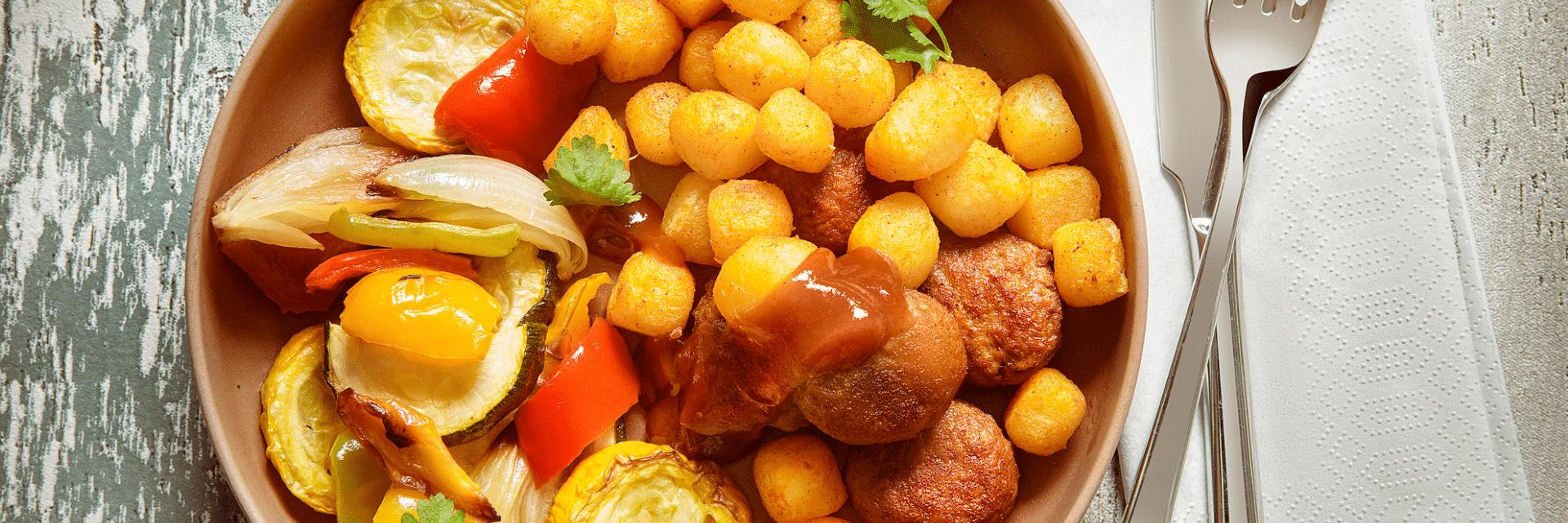 Mini Kriel met gerookte paprika en gegrilde groenten